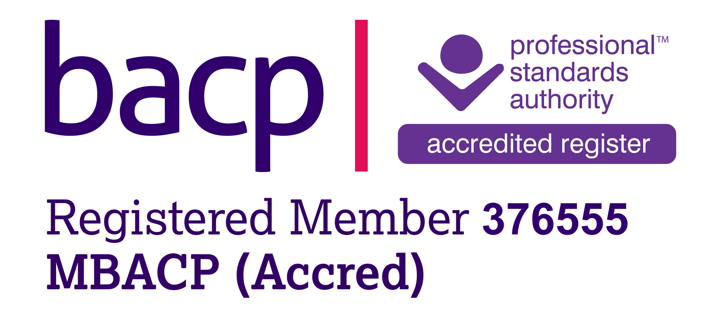 BACP Accredited Member 376555 MBACP